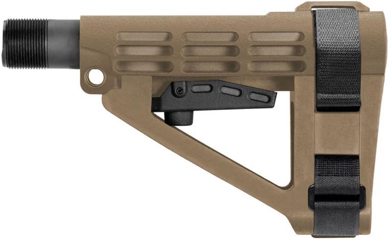 SBA4 Pistol Brace - 5 Position Adjustable - FDE