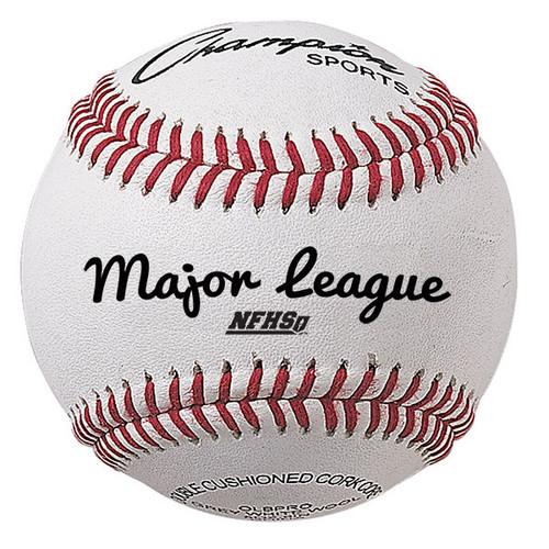 Champion Major League Cowhide Leather Baseballs - Dozen