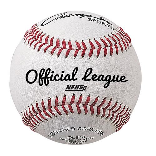 Champion Official League Cowhide Leather Baseballs - Dozen