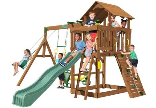 Creative Playthings Eastport Deluxe Playtime Swing Set - OUT OF STOCK