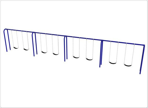 SportsPlay Arch Post Swing Set - Eight Swings