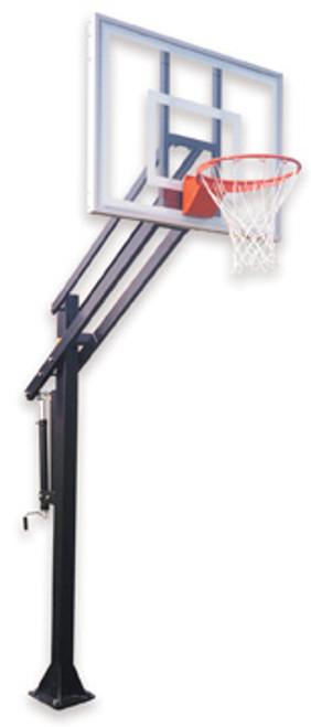 First Team Attack Ultra Inground Basketball Hoop - 54 Inch Glass