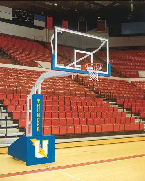 Bison T-Rex Competition Portable Basketball Hoop - 72 Inch Glass