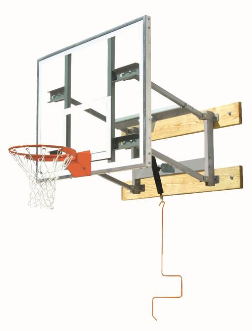 Bison Adjustable Wall Mounted Basketball Hoop - 72 Inch Glass