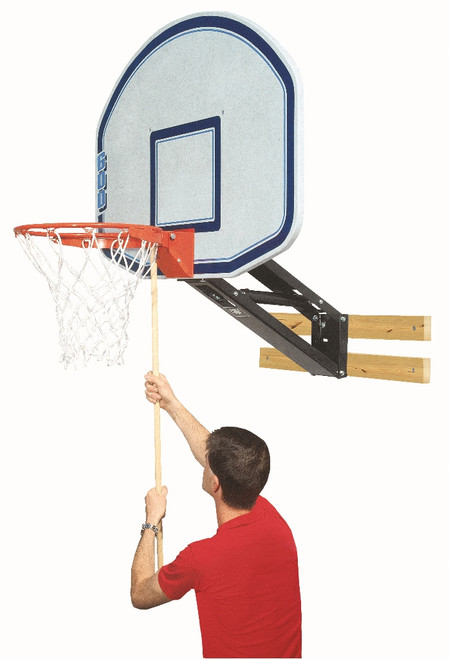 Bison QwikChange Wall Mounted Basketball Hoop - 48 Inch Fan Graphite