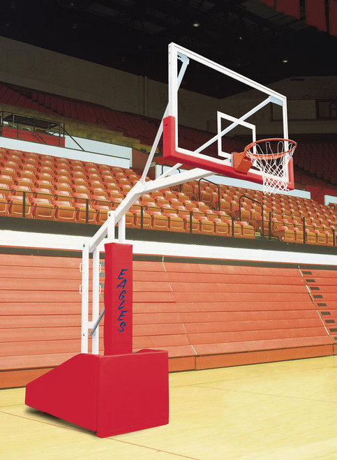 Bison T-Rex Side Court Portable Basketball Hoop - 72 Inch Glass