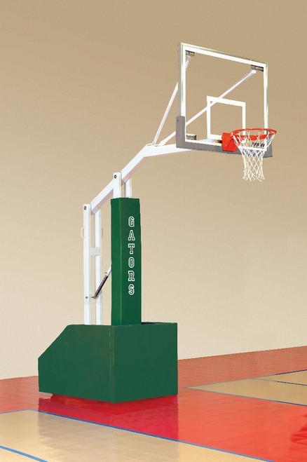 Bison T-Rex 54 SR Club Portable Basketball Hoop - 72 Inch Glass