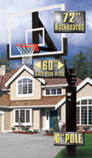 Bison Ultimate Fixed Height Basketball Hoop - 72 Inch Glass