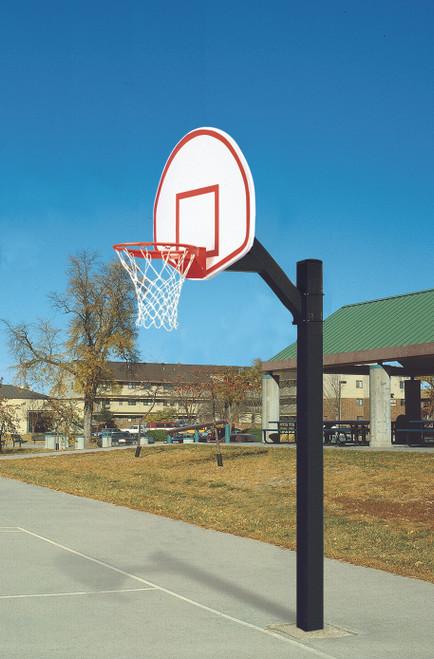 Bison Ultimate Junior Fixed Basketball Hoop - 54 Inch Fan Aluminum