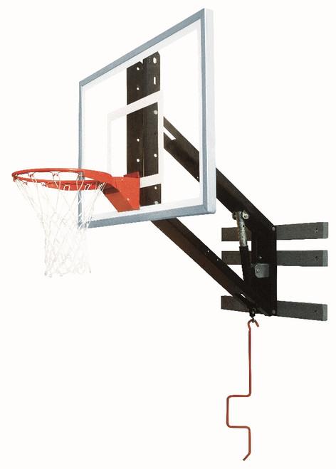 Bison ZipCrank Adjustable Wall Mounted Hoop - 54 Inch Glass