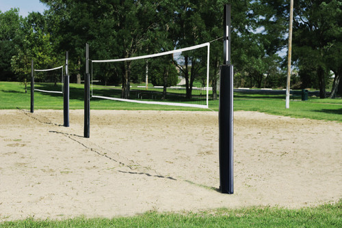 First Team Sand Blast Recreational Steel Volleyball System w/ Sand Sleeves