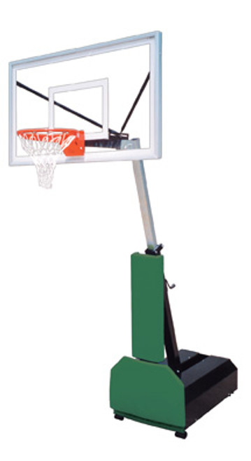 First Team Fury Turbo Portable Basketball Hoop - 54 Inch Glass
