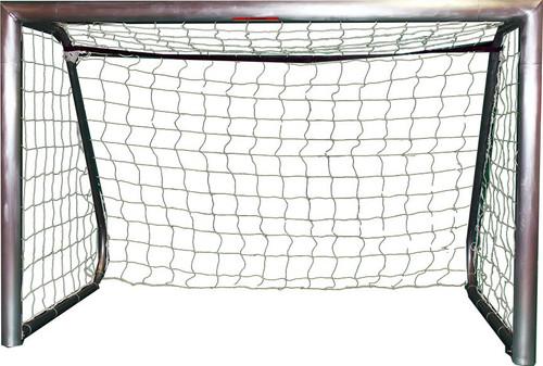 Galactico Recreational Portable Aluminum Soccer Goal - Natural Aluminum Finish - Pair