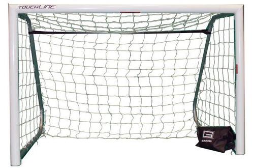 Galactico Recreational Portable Aluminum Soccer Goal - White Powdercoat Finish - Pair