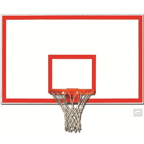 Gared 42 Inch X 72 Inch Fiberglass Backboard with Target and Border