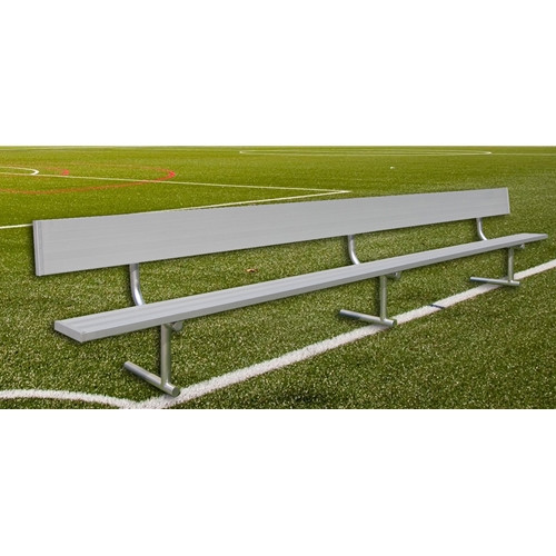Gared Spectator Series Twenty-One Foot Player Bench - With Backrest