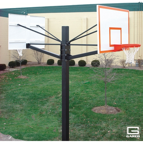 Gared Endurance Double Board Playground Hoop - 60 Inch Glass