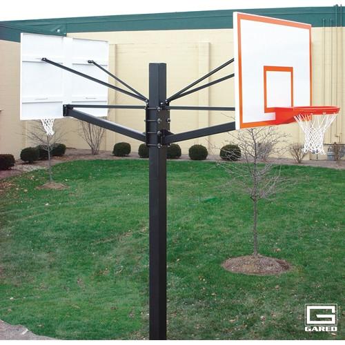 Gared Endurance Double Board Playground Hoop - 60 Inch Steel