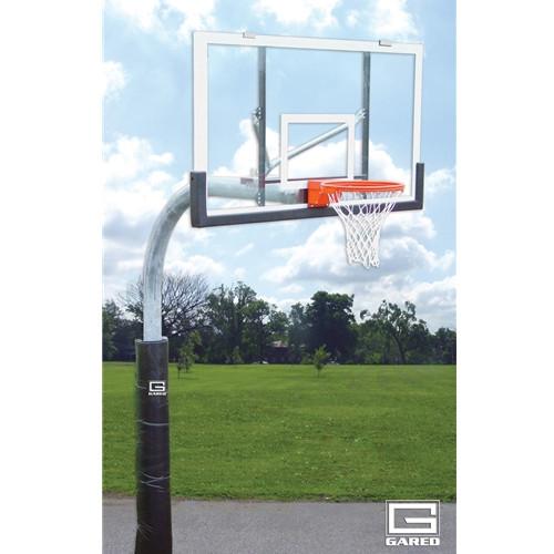 Gared Heavy Duty Gooseneck Basketball Hoop - 72 Inch Acrylic
