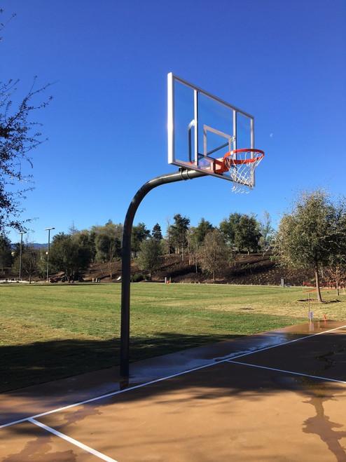 Gared Heavy Duty Gooseneck Basketball Hoop - 60 Inch Glass