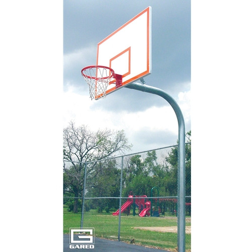 Gared Heavy Duty Gooseneck Basketball Hoop - 72 Inch Steel