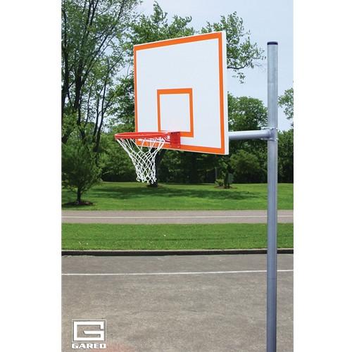 Gared Standard Duty Straight Post Basketball Hoop - 60 Inch Steel