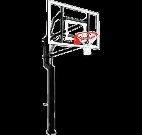 Goalsetter Captain Inground Adjustable Hoop - 60 Inch Glass or Acrylic