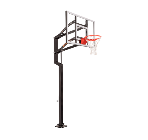 Goalsetter Contender Inground Adjustable Hoop - 54 Inch Glass or Acrylic