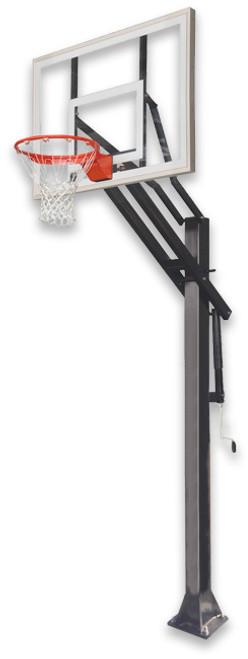 Ironclad GameChanger 55-MD Inground Adjustable Hoop - 54 Inch Glass