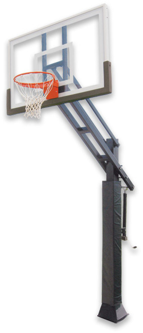 Ironclad Triple Threat 553-LG Inground Adjustable Hoop - 60 Inch Glass