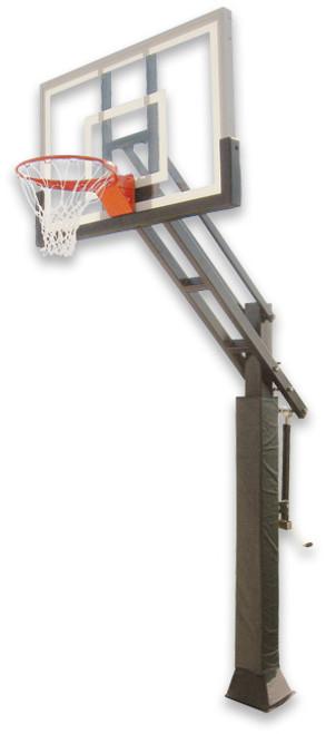 Ironclad Triple Threat 553-MD Inground Adjustable Hoop - 54 Inch Glass