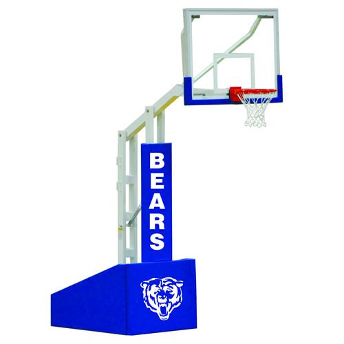 Jaypro Elite 5472 Portable Basketball Hoop - 72 Inch Glass