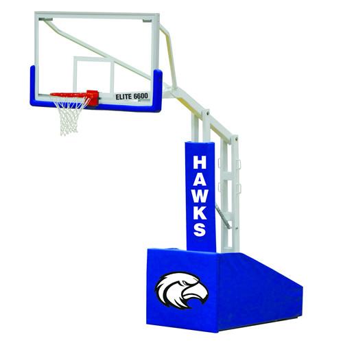 Jaypro Elite 6600 Portable Basketball Hoop - 72 Inch Glass
