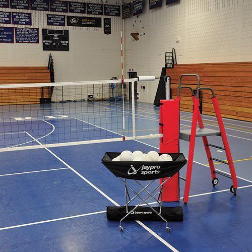 Jaypro Powerlite Indoor Volleyball System Package