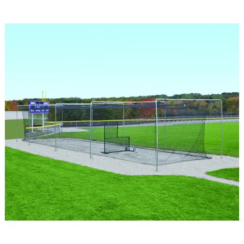 Jaypro 55' Economy Outdoor Baseball Batting Cage - Semi-Permanent