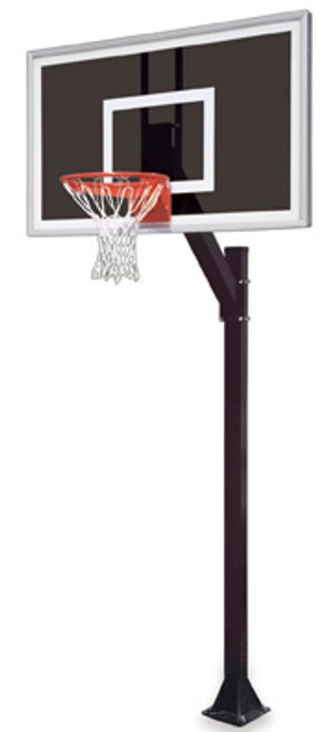 First Team Legacy Eclipse Inground Basketball Hoop - 60 Inch Smoked Glass