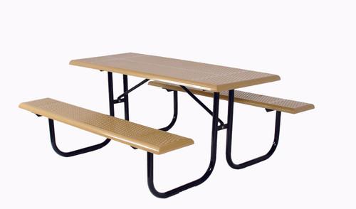 Rectangular Picnic Table - Heavy Duty Walk Thru Frame
