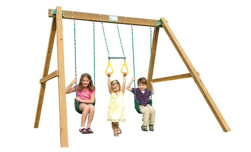 Creative Playthings Classic Pine Playtime Swing Set - OUT OF STOCK