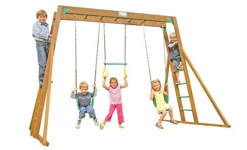 Creative Playthings Classic Pine Top Ladder Playtime Swing Set