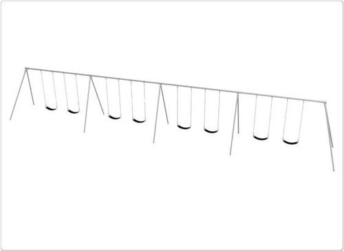 SportsPlay Primary Bipod Swing Set - Eight Swings
