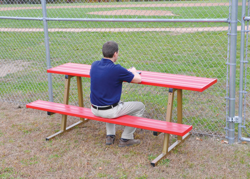 Outdoor Scorers Table with Bench - Powder Coated