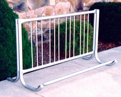 Single-Side Curved Portable Bike Rack