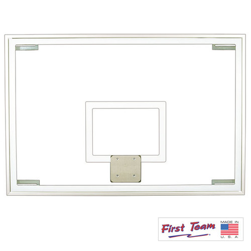 """First Team 48"""" X 72"""" Official Tempered Glass Backboard"""