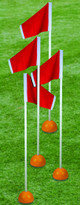 First Team Soccer Corner Flags with Weighted Base