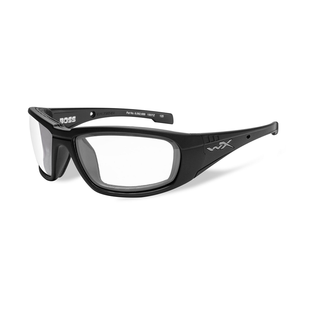Wiley X Boss | Clear Lens w/ Matte Black Frame