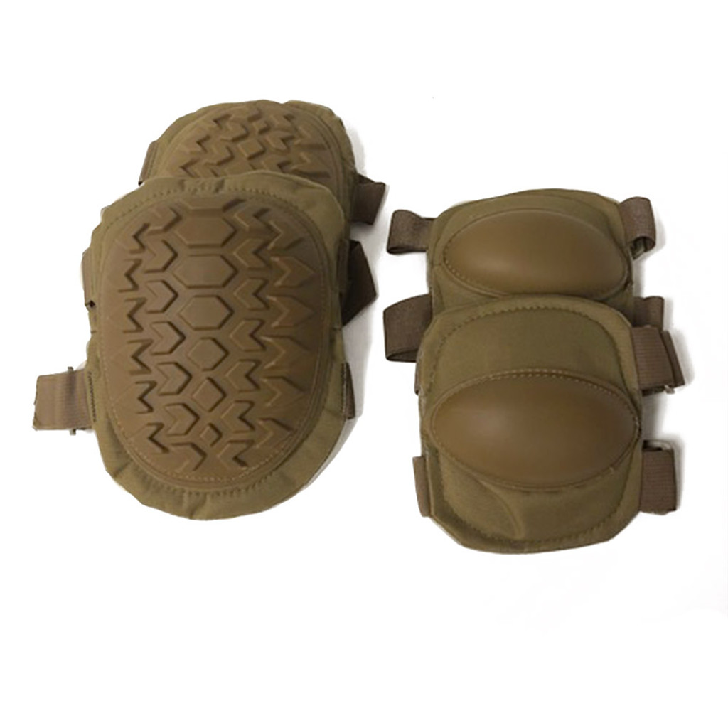 Hard Knee and Elbow Guards Kit Coyote Brown