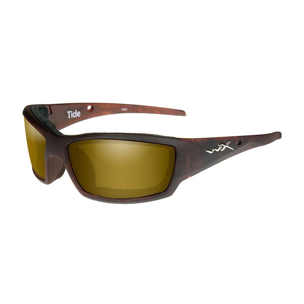 Wiley X Tide | Polarised Gold Lens w/ Hickory Frame
