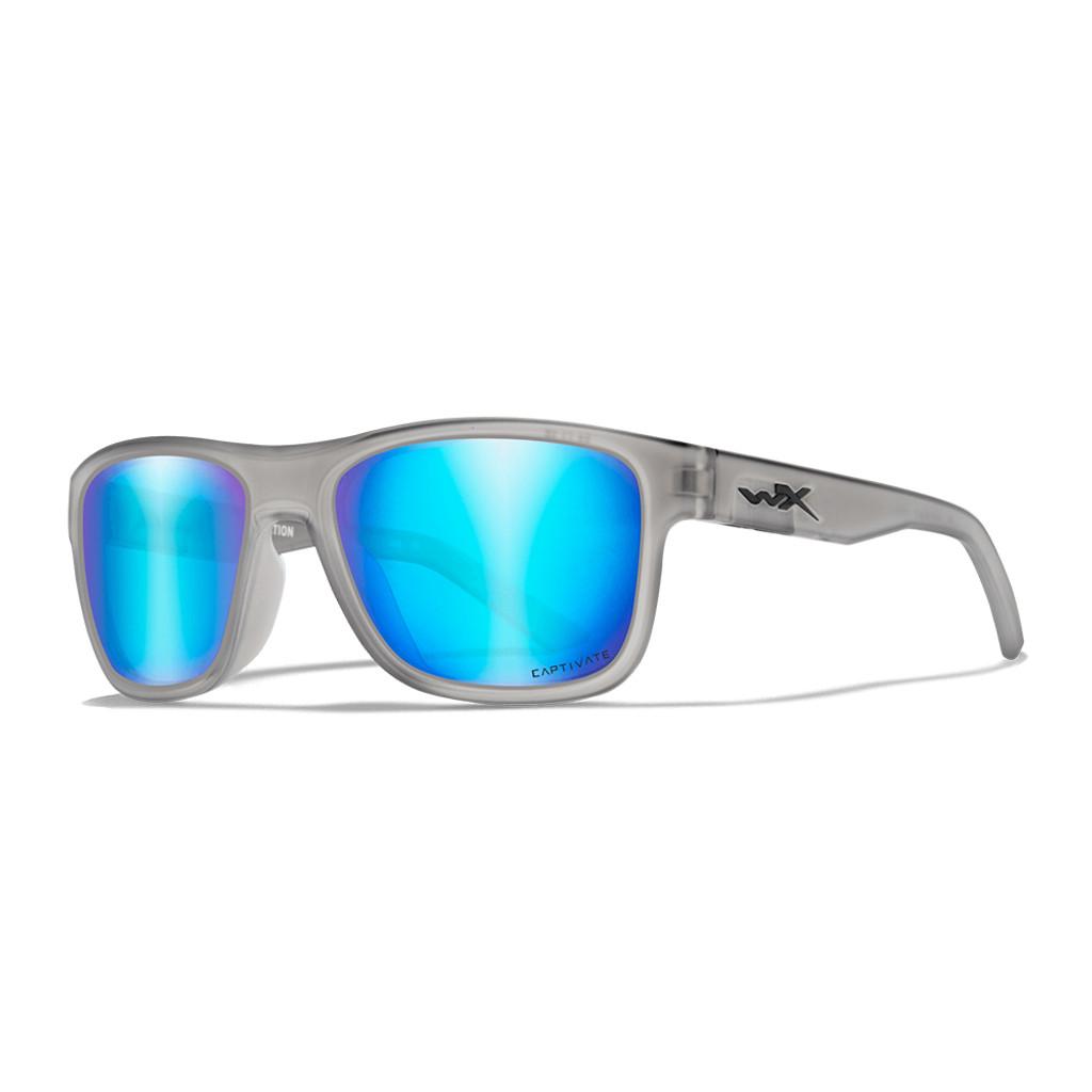 Wiley X Ovation | Captivate Polarised Blue Mirror Lens w/ Matte Slate Frame