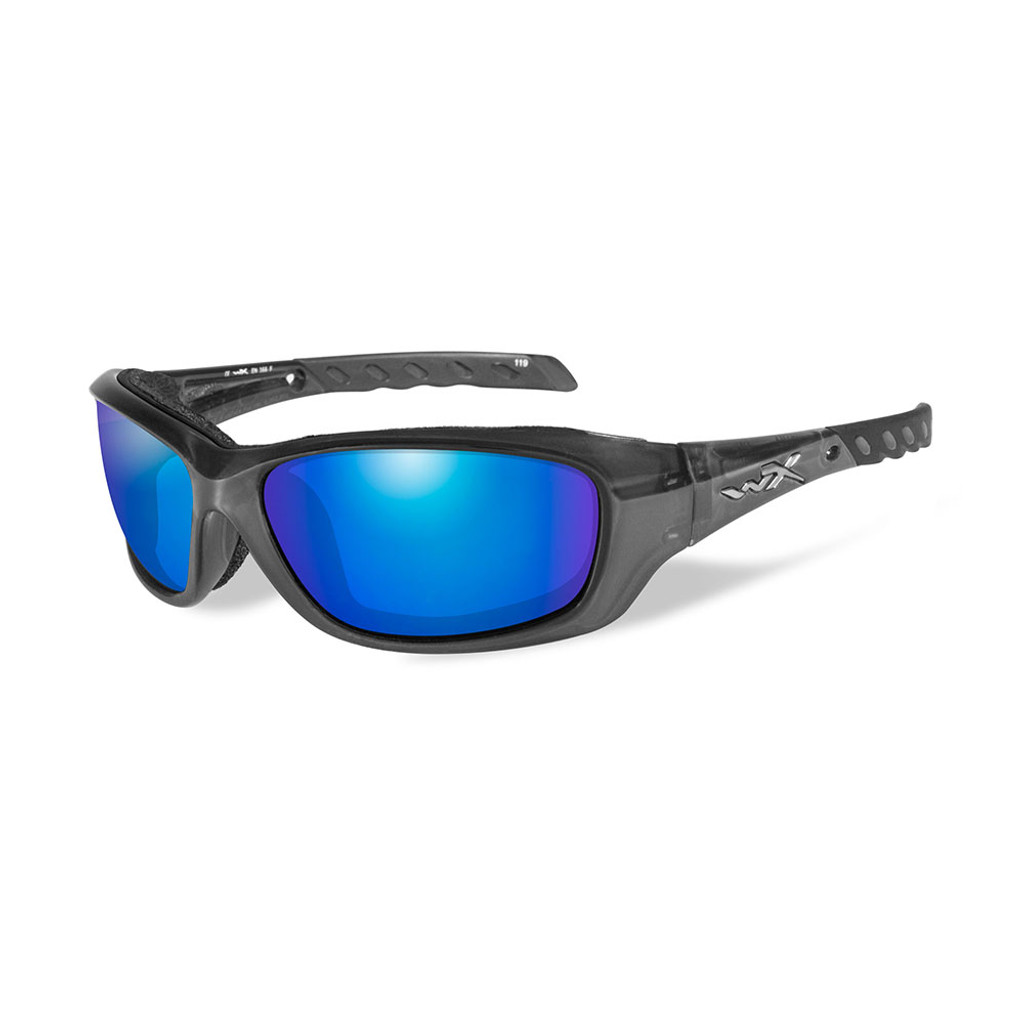 Wiley X Gravity | Polarised Blue Mirror Lens w/ Crystal Black Frame
