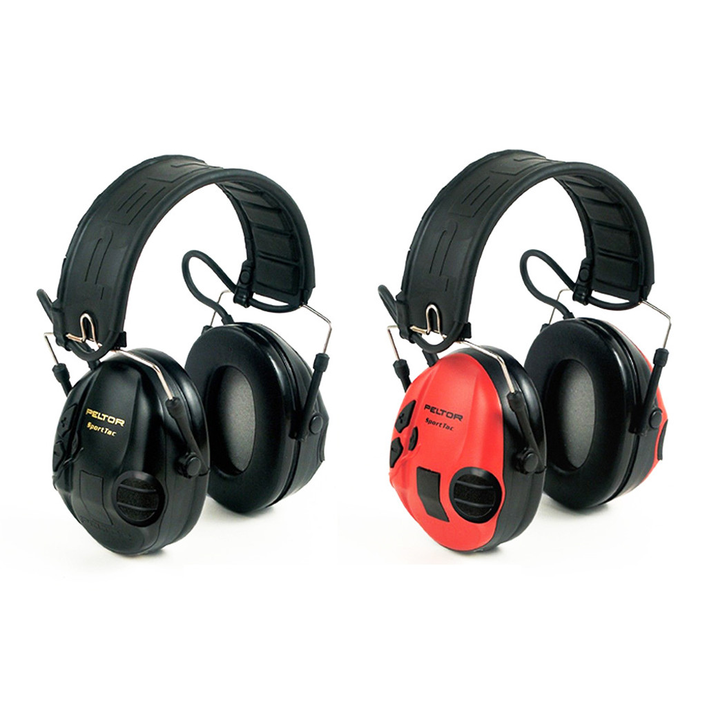 SportTac Headset Earmuff Red/Black